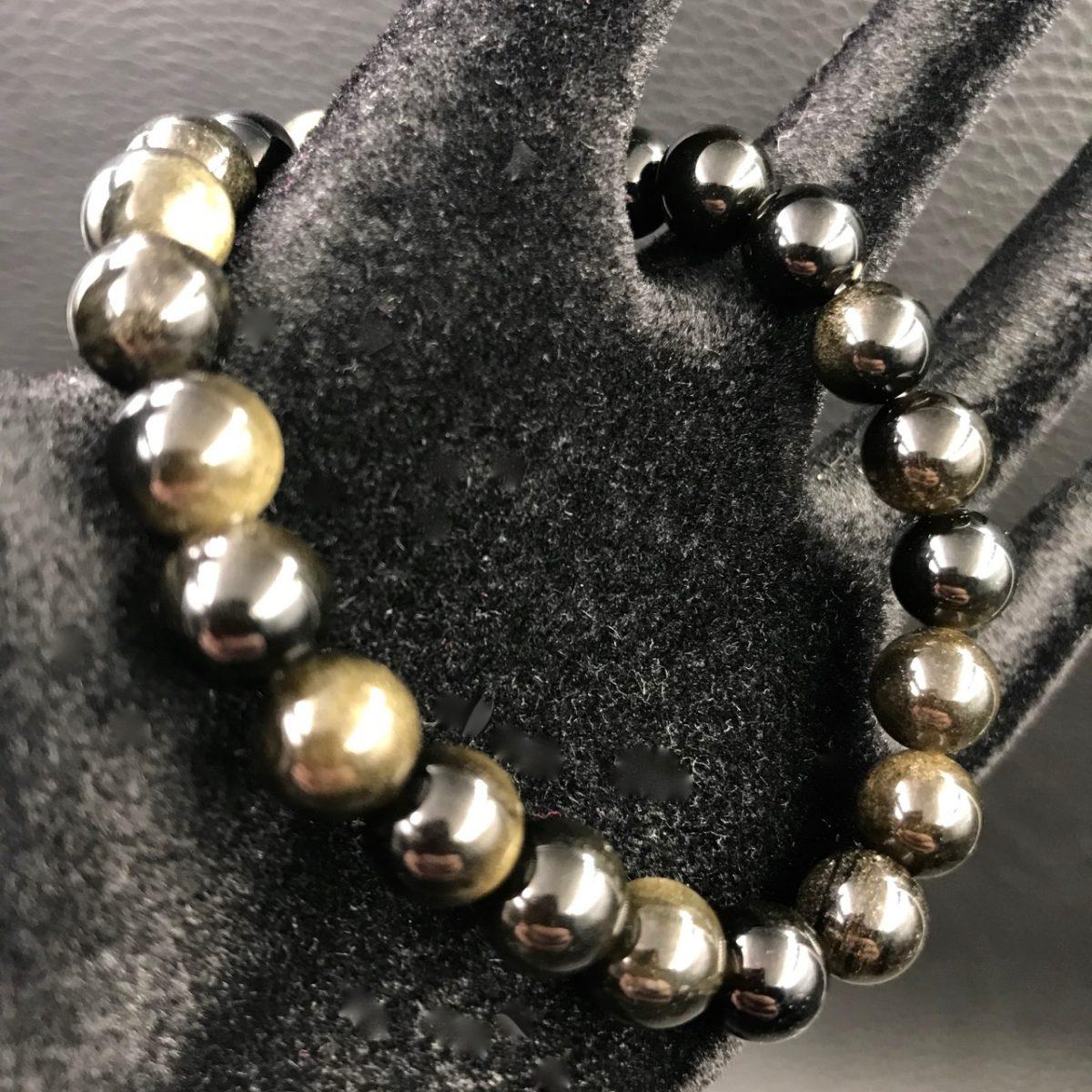 bracelet-obsidienne-doré