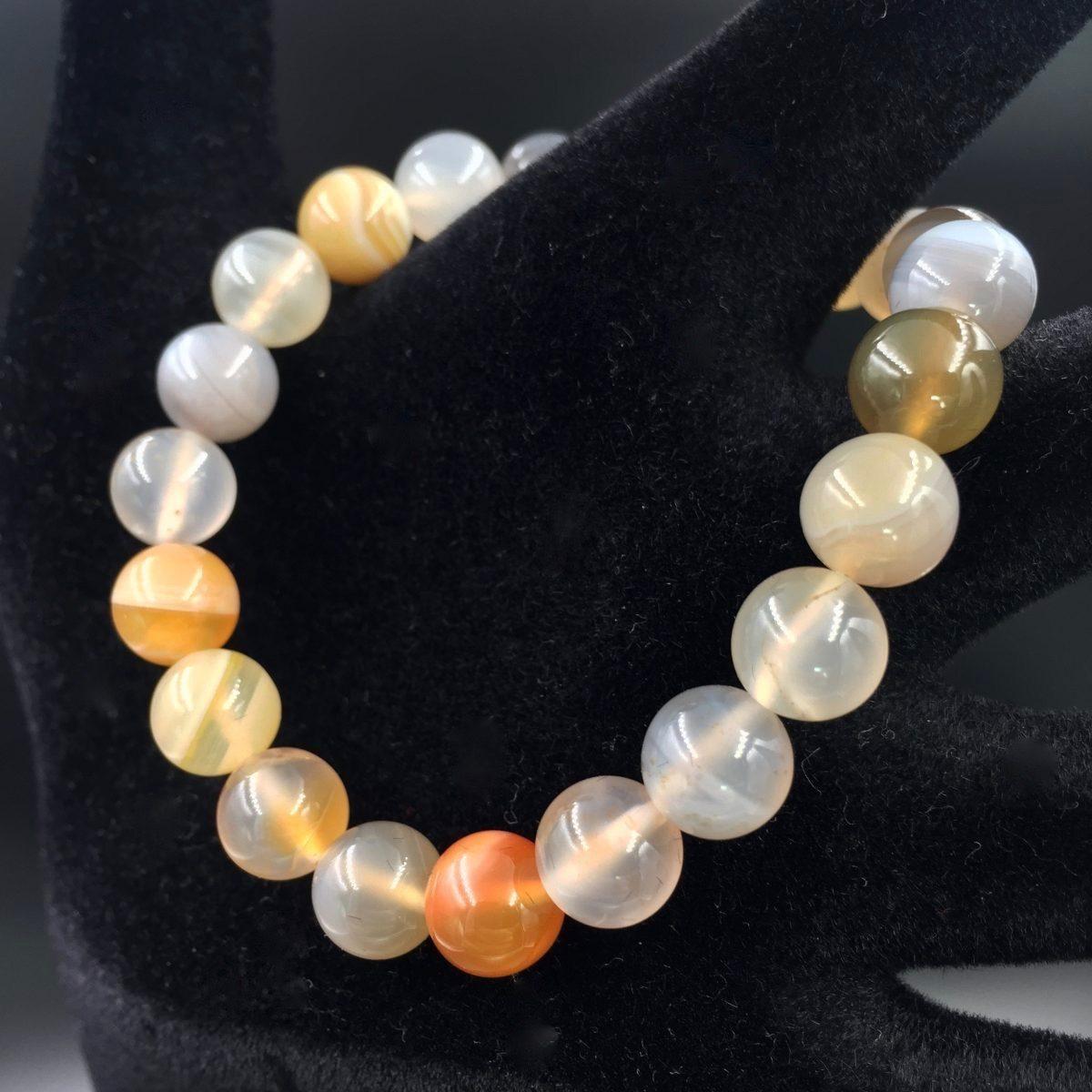 bracelet-perles-agate-multicolore
