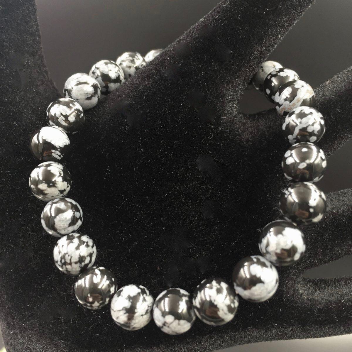 bracelet-perles-obsidienne-flocon-de-neige